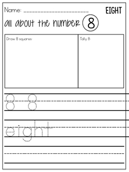 Number Focus Pages (1-10)