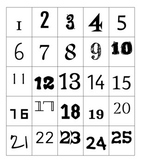Number Font Pages