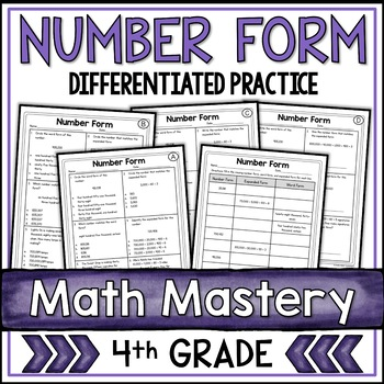 Expanded Form Standard Form Number Word Form By Shelly Rees Tpt