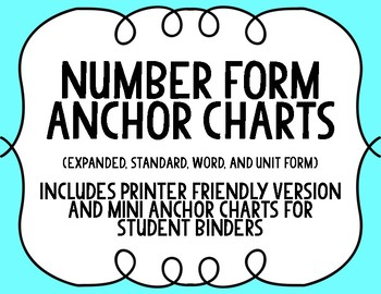 Number Form: Anchor Charts