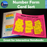 Number Form Card Sort | Standard, Expanded, and Word Form