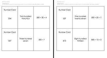 Number Form Match 3-digit Numbers