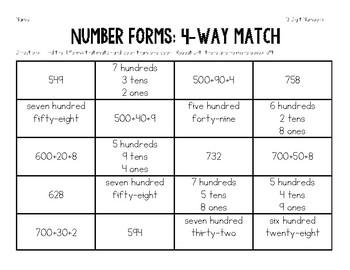 Number Form Match