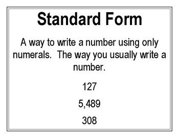 Number Form Poster