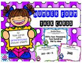 Number Form Task Cards [expanded form, word form, and standard form]