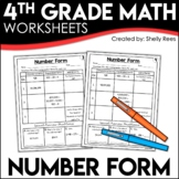 Number Form (Expanded Form, Word Form, & Standard Form) Worksheets
