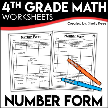 Number Form Expanded Form Word Form Standard Form Worksheets