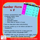 Number Form x 5