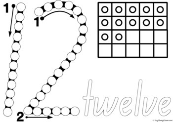 Number Formation 0-20 Fine Motor Printables - New South Wales Foundation Font