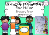 Number Formation 0-20 Fine Motor Printables - Print Font