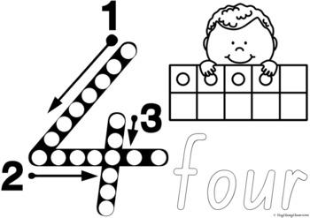 Number Formation 0-20 Fine Motor Printables - Queensland Beginners Font