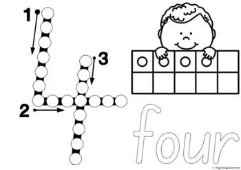 Number Formation 0-20 Fine Motor Printables - South Australian Print Font