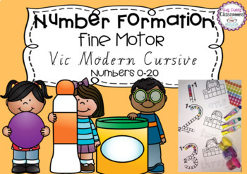 Number Formation 0-20 Fine Motor Printables - Victorian Mo