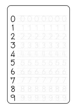 photo regarding Free Printable Tracing Numbers identify Cost-free Printable Tracing Quantities