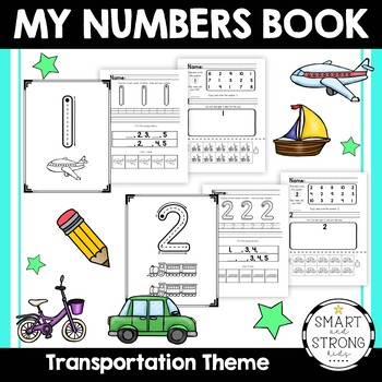 Number Formation Book - Transportation Theme - 3 Activities Per Number - #1-10