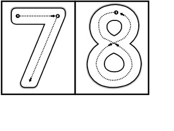 Number Formation Cards {Path of Motion}