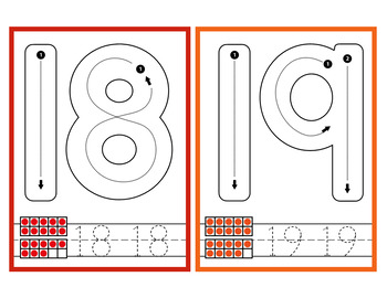 Number Formation Cards - Playdough or Dry Erase