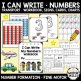 Number Formation Charts - Visual Signs & Worksheets - (OT, SPED)