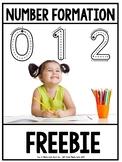Number Formation Freebie - Numbers 0,1,2