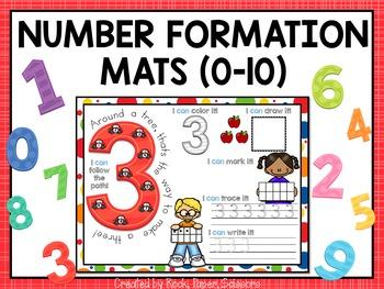 Number Formation Mats 0-10