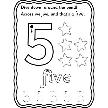 Number Formation One to Ten Dry wipe and Play dough Learning Station Mats