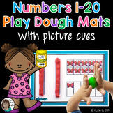 Playdough Mats - Numbers with picture counting aides