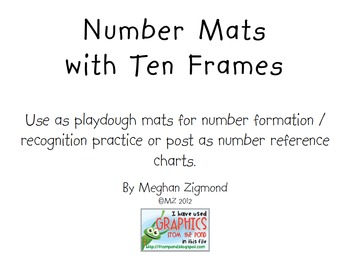 Number Formation Playdough Mats with Ten Frames