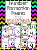 Number Formation Poems 0-10