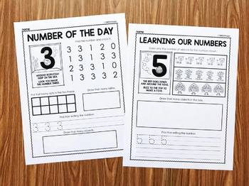Number Poems Additional Practice Pages