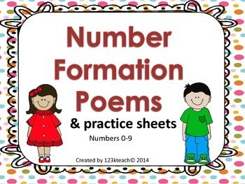 Number Formation Poems & Practice Sheets