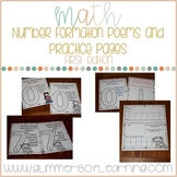 Number Formation Poems and Practice Pages