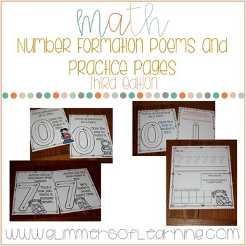 Number Formation Poems and Practice Pages OPTION 3