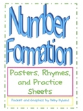 Number Formation- Posters, Poems, and Number Writing practice