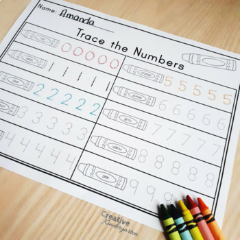 Number Formation Practice: 5 Activities for Kindergarten Math (FRENCH included)