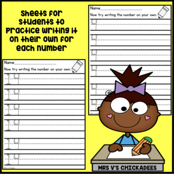Number Formation Practice Sheets: Tracing Numbers 1-20