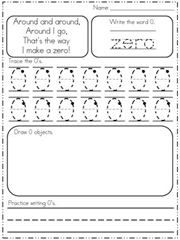 Number Formation Practice with Poems