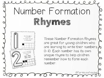 Number Formation Rhymes