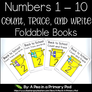 Number Formation and Counting 1 - 10 Mini Books (Back to School)