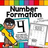 Number Formation 0-10, Posters, Kindergarten, Back to School,