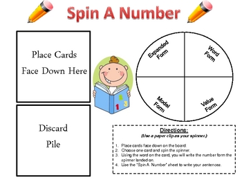 """Number Forms: 4 Ways To Write  """"Spin A Number"""""""