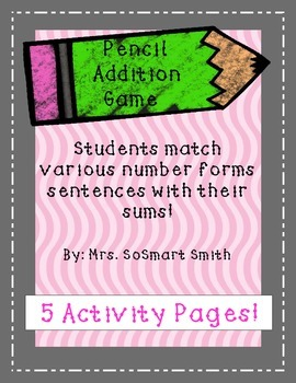 Pencil Number Forms Activity