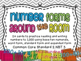 Number Forms Around the Room 2.NBT.3