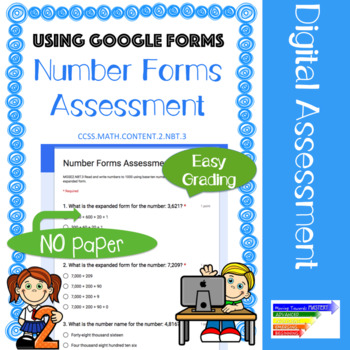 Number Forms Assessment: Google Forms