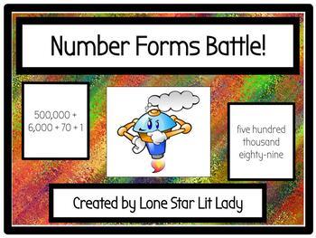 Number Forms Battle! Game