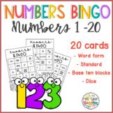 Number Forms Bingo 1 - 20