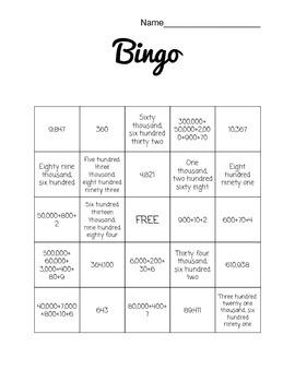 Number Forms Bingo