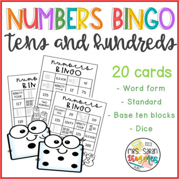 Number Forms Bingo - Tens and Hundreds