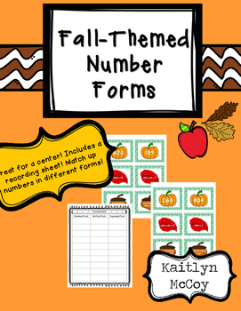 Number Forms Center Cards