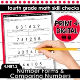 Number Forms & Comparing Numbers | Fourth Grade Math 4.NBT.2