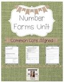 Number Forms DOK Worksheets